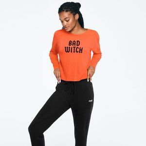 Victoria's Secret PINK Cropped Tee Bad Witch NEW
